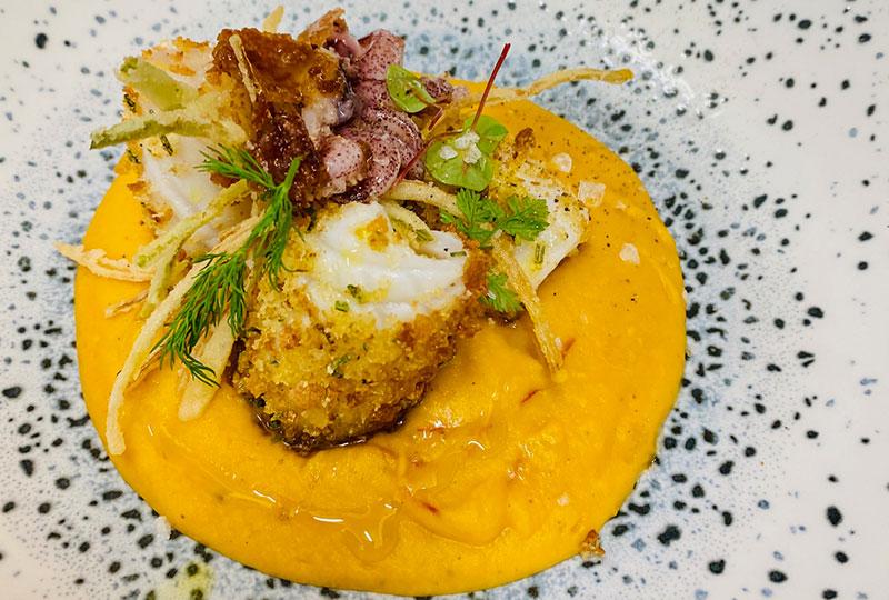 crema zucca calamaro Panoramico ristoranti Bergamo