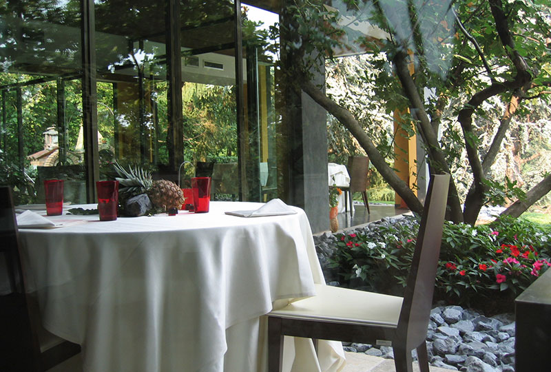 vetrata dehor cantina lemine ristoranti bergamo